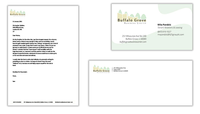 Letterhead, Business Card, & Envelope