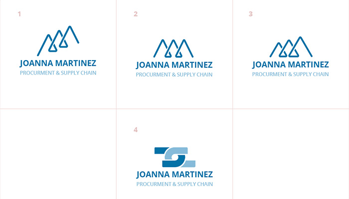 Initial logo options