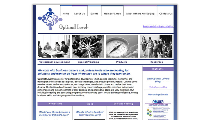 Original Homepage Design