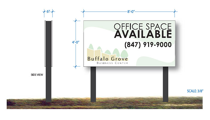 Outdoor Leasing Sign