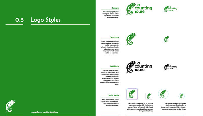 Excerpt from Corporate Identity Guidelines Manual: Correct use of logo variations